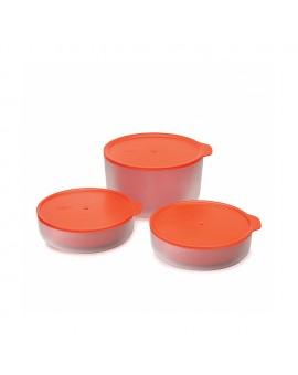 Набор емкостей для микроволновки с двойными стенками M-Cuisine (3 шт)  - Orange
