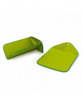 Разделочная доска - дуршлаг Rinse & Chop Plus Green