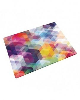 Доска для нарезки и сервировки из закаленного стекла Hexagons