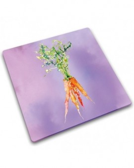 Доска для нарезки и сервировки из закаленного стекла Carrots
