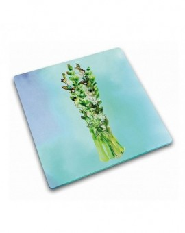 Доска для нарезки и сервировки из закаленного стекла Asparagus