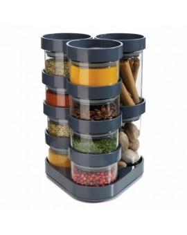Набор емкостей для хранения специй Spice Store Carousel Grey