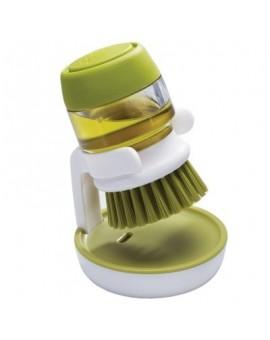 Щетка для посуды с дозатором жидкого мыла Palm Scrub - Green