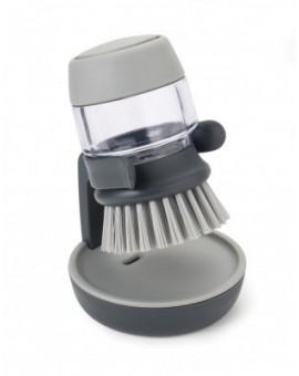 Щетка для посуды с дозатором жидкого мыла Palm Scrub - Grey