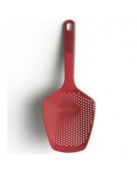 Шумовка с силиконовой ручкой 34см Scoop Plus Large - Red