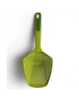 Шумовка с силиконовой ручкой 34см Scoop Plus Large - Green