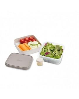 Контейнер для салата GoEat Compact 3-in-1 salad box - Grey