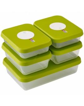 Набор контейнеров пищевых с датой на крышке Dial storage (5 шт) 81042