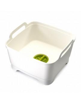Контейнер для раковины Wash & Drain Washing Up Bowl White / Green 85055