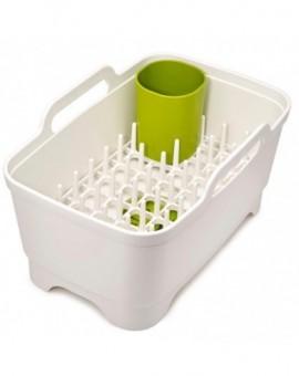 Набор для мытья и сушки посуды Wash&Drain Plus - White/Green 85101