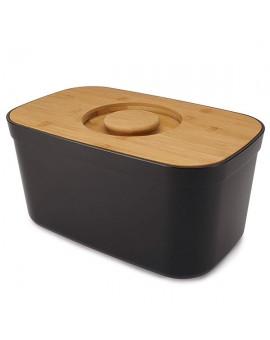 Хлебница с бамбуковой крышкой Joseph Joseph Bread Bin black 81103