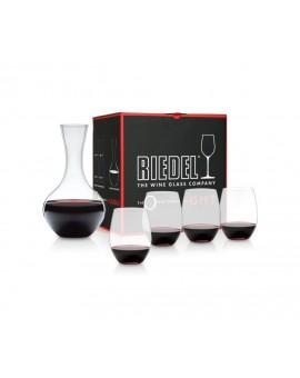 Набор Riedel для красного вина O Tumbler Cabernet из 4-х хрустальных бокалов и хрустального декантера 5414/30