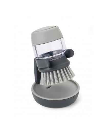 Щетка для посуды с дозатором жидкого мыла Palm Scrub - Grey 85005