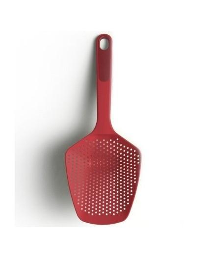 Шумовка с силиконовой ручкой 34см Scoop Plus Large - Red 10064