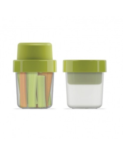 Контейнер для снэков GoEat Compact 2-in-1 snack pot - Green 81025