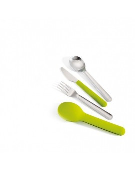 Набор столовых приборов GoEat Compact stainless-steel cutlery set - Green 8133